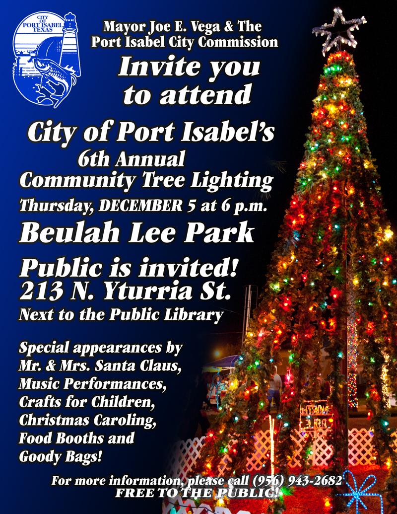 6th Annual Community Christmas Tree Lighting Ceremony 12/5 6p ...
